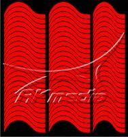 Samolepka pro nail art francie 10 červená AKmedia