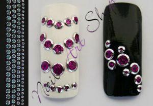 Creativ samolepky bublinky fialové