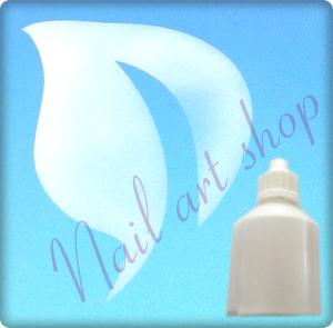 Airbrush barva na nehty bílá metalická