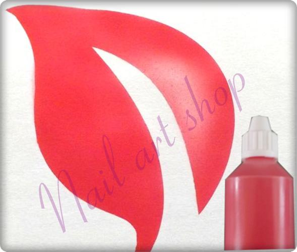 Airbrush barva na nehty červená
