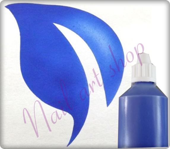 Airbrush barva na nehty modrá