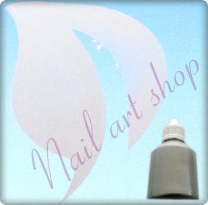 Airbrush barva na nehty stříbrna metalická