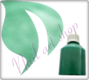 Airbrush barva na nehty zelená metalická