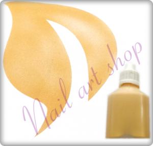 Airbrush barva na nehty zlatá metalická