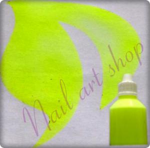 Airbrush barva na nehty žlutá neon