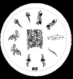 Destička pro razítkování - stamping A 12