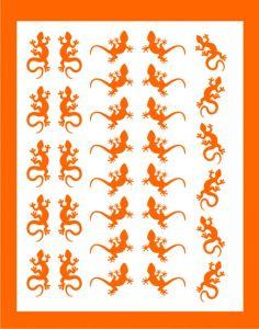 Samolepka pro nail art ještěrka 02 oranžová