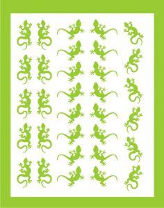 Samolepka pro nail art ještěrka 02 zelená