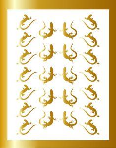 Samolepka pro nail art ještěrka 03 zlatá