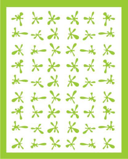 Samolepka pro nail art kaňka 3 zelená AKmedia