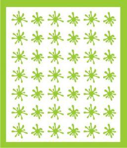 Samolepka pro nail art kaňka zelená
