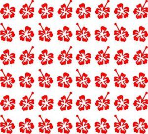 Samolepka pro nail art kytka 3 červená