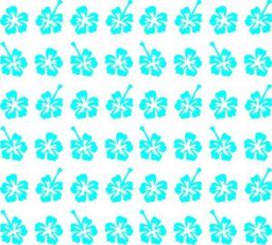 Samolepka pro nail art kytka 3 modrá světlá
