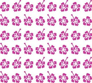 Samolepka pro nail art kytka 3 růžová tmavá