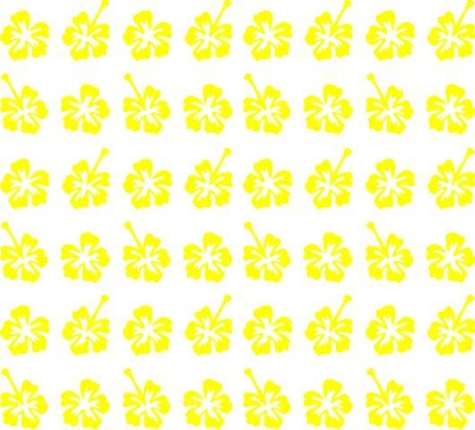 Samolepka pro nail art kytička 3 žlutá AKmedia