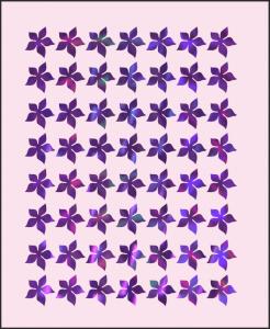 Samolepka pro nail art kytka 4 hologram 4