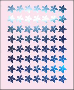 Samolepka pro nail art kytka 4 zrcadlová modrá