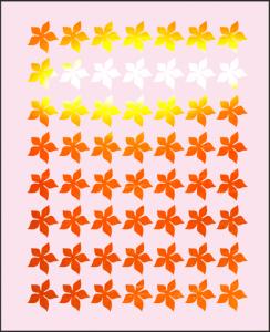 Samolepka pro nail art kytka 4 zrcadlová oranžová