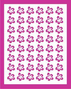 Samolepka pro nail art kytka 5 růžová