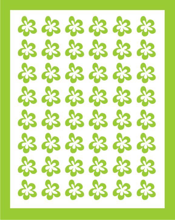 Samolepka pro nail art kytička 5 zelená světlá AKmedia
