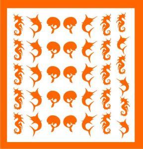 Samolepka pro nail art léto oranžová