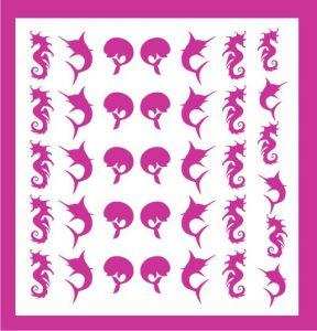 Samolepka pro nail art léto růžová