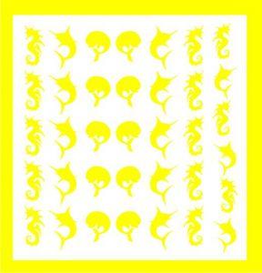 Samolepka pro nail art léto žlutá