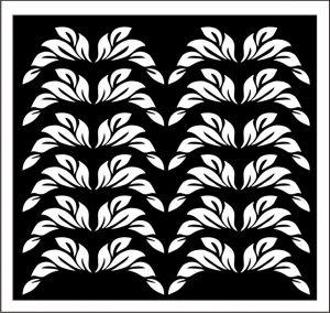 Samolepka pro nail art lístečky 1 černábílá