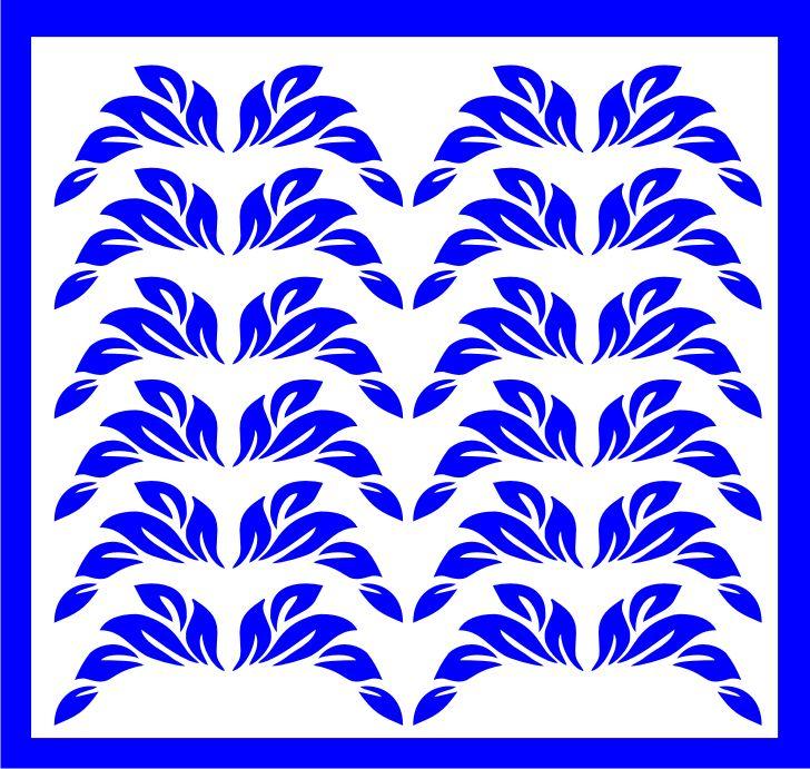 Samolepka pro nail art lístečky 1 modrá AKmedia