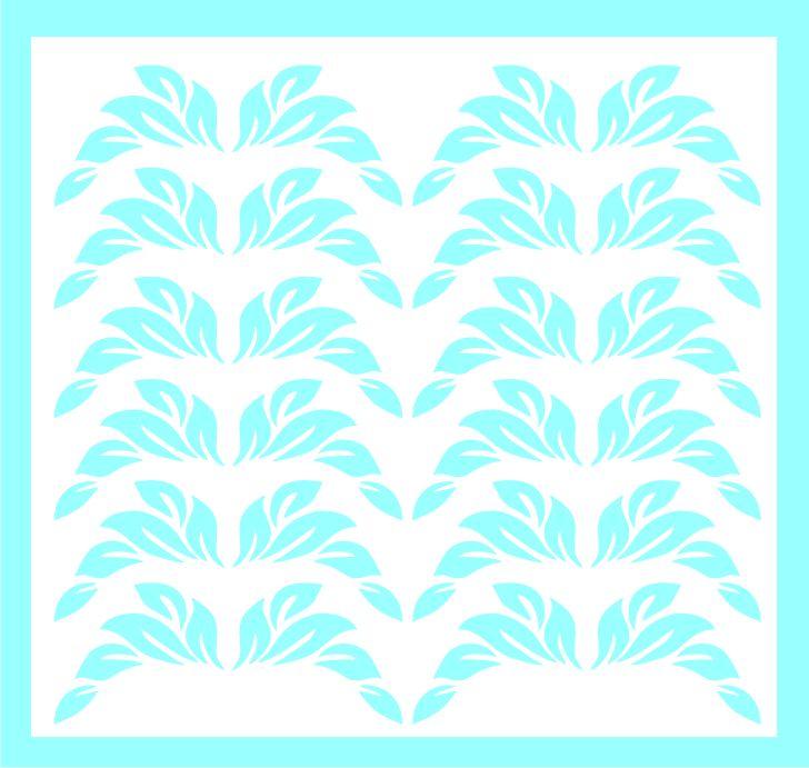 Samolepka pro nail art lístečky 1 modrá světlá AKmedia