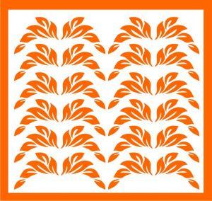 Samolepka pro nail art lístečky 1 oranžová