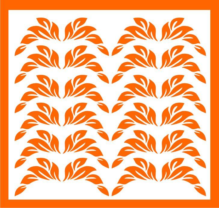 Samolepka pro nail art lístečky 1 oranžová AKmedia