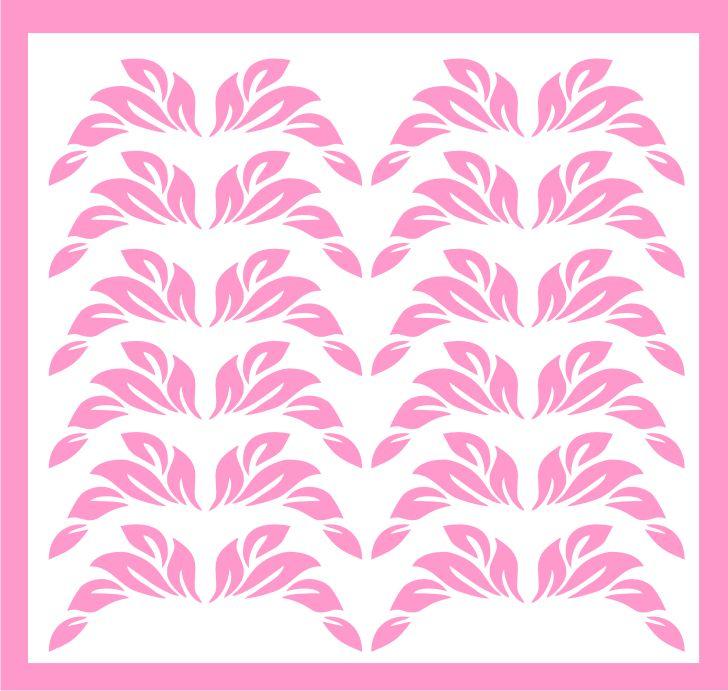 Samolepka pro nail art lístečky 1 růžová světlá AKmedia
