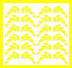 Samolepka pro nail art lístečky 1 žlutá