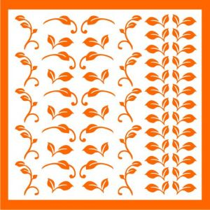 Samolepka pro nail art lístečky 2 oranžová
