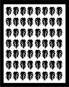 Samolepka pro nail art lístečky 3 černá