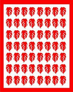Samolepka pro nail art lístečky 3 červená
