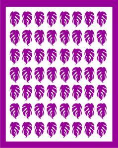 Samolepka pro nail art lístečky 3 fialová tmavá