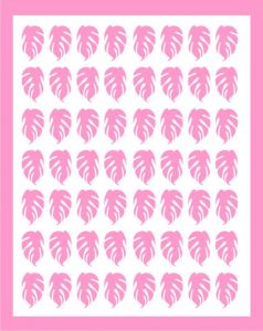 Samolepka pro nail art lístečky 3 růžová světlá