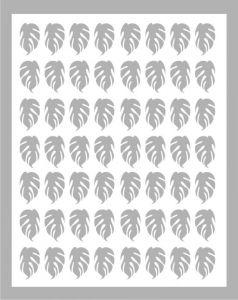 Samolepka pro nail art lístečky 3 stříbrná