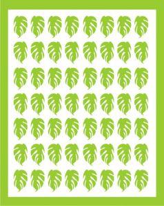 Samolepka pro nail art lístečky 3 zelená světlá