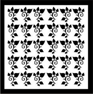 Samolepka pro nail art lístečky 4 černá