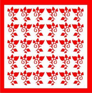 Samolepka pro nail art lístečky 4 červená