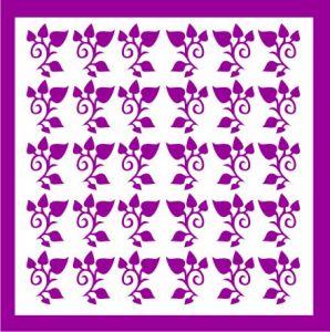 Samolepka pro nail art lístečky 4 fialová tmavá
