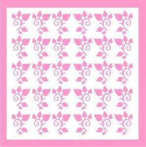 Samolepka pro nail art lístečky 4 růžová světlá