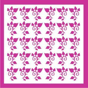 Samolepka pro nail art lístečky 4 růžová tmavá