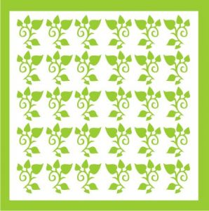 Samolepka pro nail art lístečky 4 zelená světlá