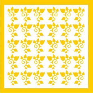 Samolepka pro nail art lístečky 4 žlutá