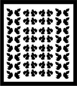 Samolepka pro nail art lístečky 5 černá