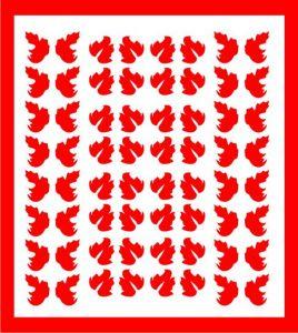 Samolepka pro nail art lístečky 5 červená
